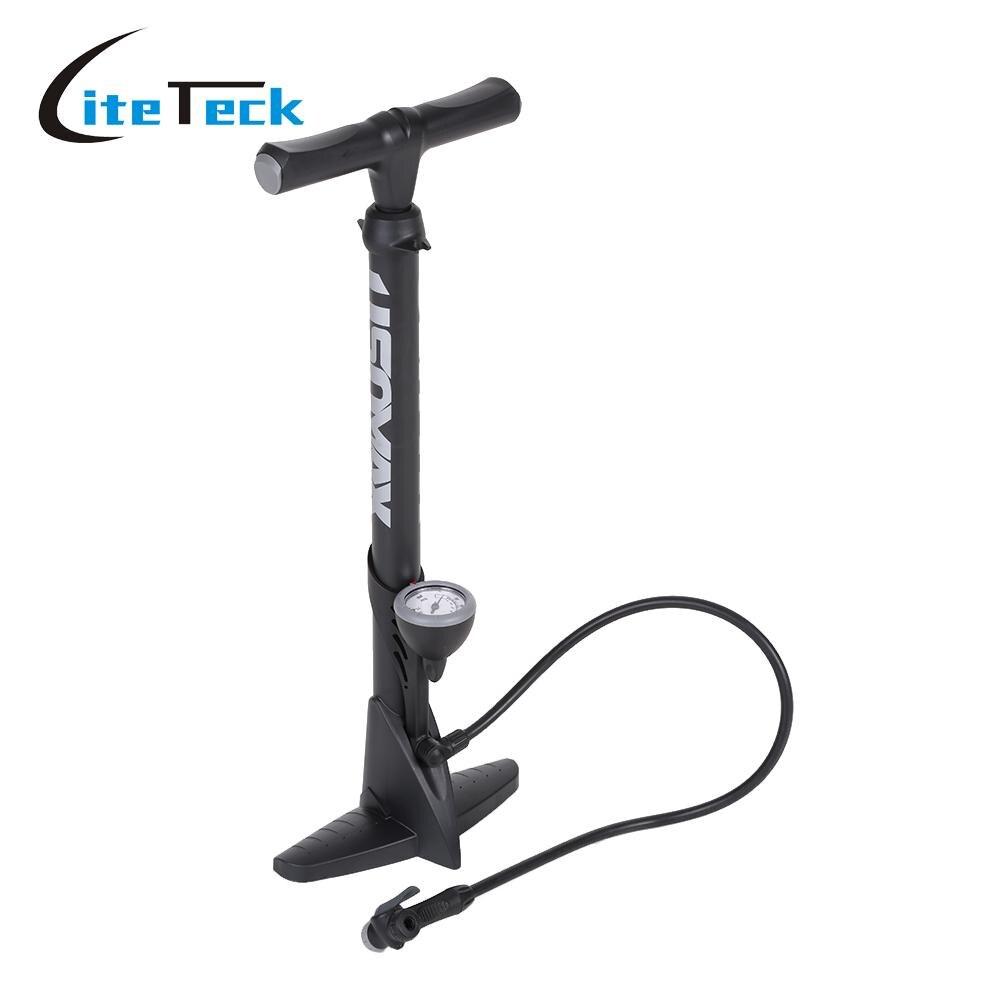 Pompe de plancher de bicyclette à haute pression gonfleur de pression de vélo Super léger pneu de pompe de pneu d'air avec la Valve échangable de jauge