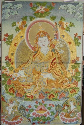 Explosion Thangka Buddha Buddha Silk Embroidery Brocade Painting Buddha Statue Padmasambhava