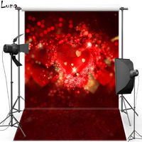 MEHOFOTO Red Shimmer Sparkle Vinyl Photography Background For Wedding New Fabric Flannel Background For Photo Studio 2294