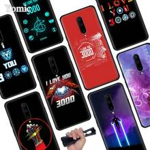 Iron Man Love You 3000 Black Soft Case for Oneplus 7 Pro 7 6T 6 Silicone TPU Phone Cases Cover Coque Shell