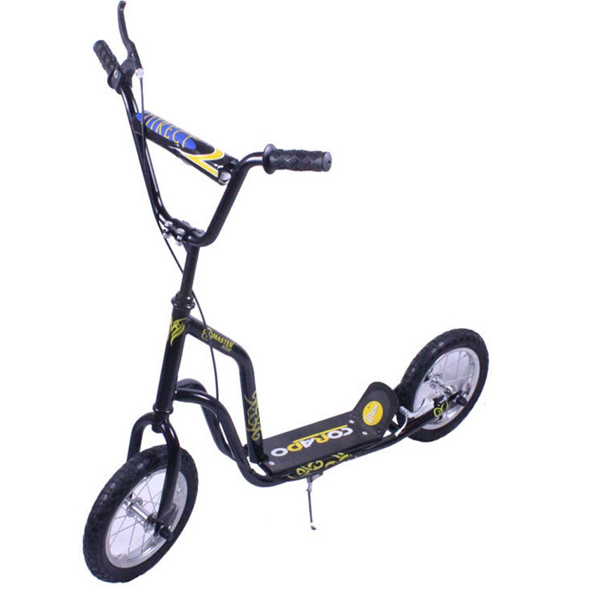 High Quality Goldboy 12 Inch Rubber Tyre Kids Scooter Hand Safe Brake Adjust Handle Bar Height