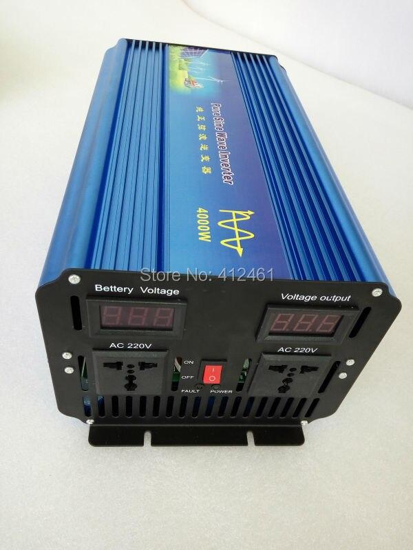 цена на 4000W 4000 WATT Pure Sine Wave Car Boat 12V/24V/48V DC In 220V AC Out Car Power Inverter Solar Inverter