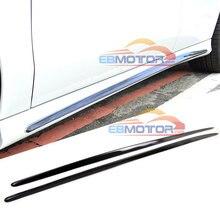 Реальные боковые юбки из углеродного волокна для MERCEDES BENZ W117 CLA AMG Sport 14-16 M153