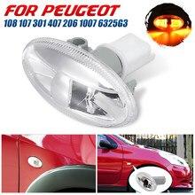 Nuevo socio de coche, luz de repetición indicadora lateral, lámpara para Peugeot 107 108 407 206 1007 VU 301 108 407 de alta calidad