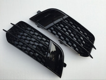 RS1 Style Black Front Fog Light Grille Cover Trim For Audi A1 Non Sline 2010-2015(China)
