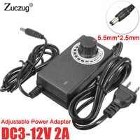 Ac ajustável para dc 3 v 9 v 12 v 24 v 36 v 1a 2a fonte de alimentação adaptador universal 3 9 12 24 36 v 1a 2a volt fonte de alimentação interruptor adatpor