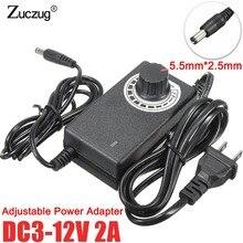 Adjustable AC To DC 3V 9V 12V 24V 36V 1A 2A Power universal Adapter Supply 3 9 12 24 36 V Volt power supply adatpor switch