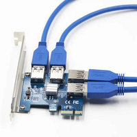 NEW Add On Card PCIe 1 To 4 PCI Express 16X Slots Riser Card PCI E
