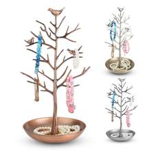 Fashionable Bird Tree Jewelry Display Stand Earring Necklace Bracelet Show Rack Holder Display Jewelry Organizer holder(China)