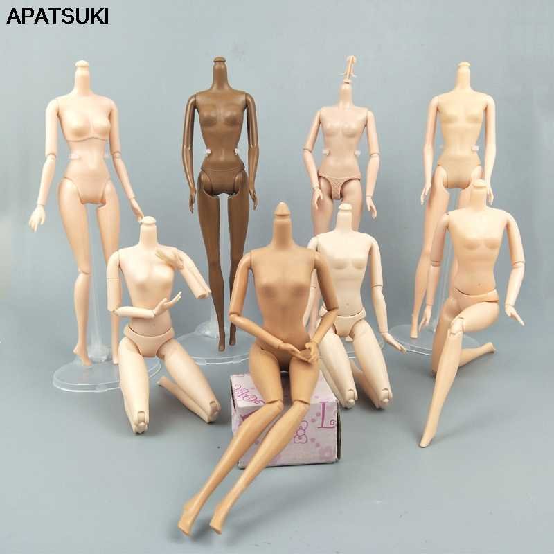 1/6 Jointed DIY Movable Nude Naked Doll Body For 1:6 BJD Dollhouse DIY Body Without Head 1:6 Doll Accessories Children Gifts