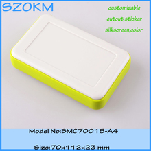 10 pcs/lot Green color abs plastic material enclosures for case abs enclosure 70X112X23 MM