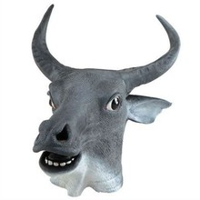 Hot Halloween Latex Animal Costume Bull Head Mask Gorilla Full Face Cosplay Supplies Farm Party