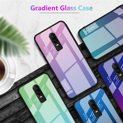 На Алиэкспресс купить стекло для смартфона for oneplus 6t 6 case gradient plastic tpu silicone frame + tempered glass case for one plus 6t colorful luxury full back cover