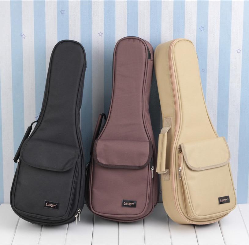 Thicken Soprano Concert Tenor Ukulele Bag Case Backpack Handbag 15MM 21 23 26 Inch Ukelele Mini Guitar Accessories Parts Gig