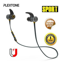Plextone BX343 Bluetooth Headphone Wireless IPX5 Waterproof Earbuds Magnetic Headset Sport Earphones With Microphone For Phone