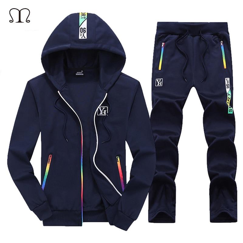 Tracksuit Men Sets Autumn Winter Luxury Sportswear Track Suits Men's Casual Hooded Hoodies Two Pieces Men Sweatshirt Pants Set