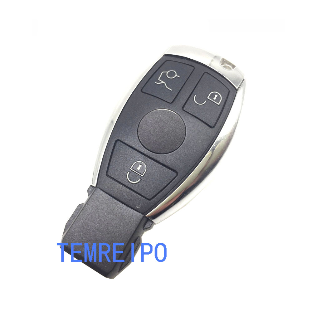 Key cover shell for Mercedes benz 3 buttons smart key case For Benz W203 W210 W211 AMG W204 C E S CLS CLK CLA SLK with logo цена