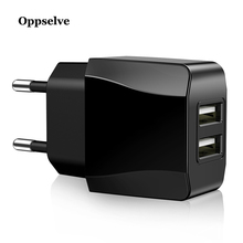 Dual USB Charger, Oppselve Mobile Phone Charger 2.4A Fast Charging Wall For iPhone XS MAX X 8 Samsung Xiaomi Adapter