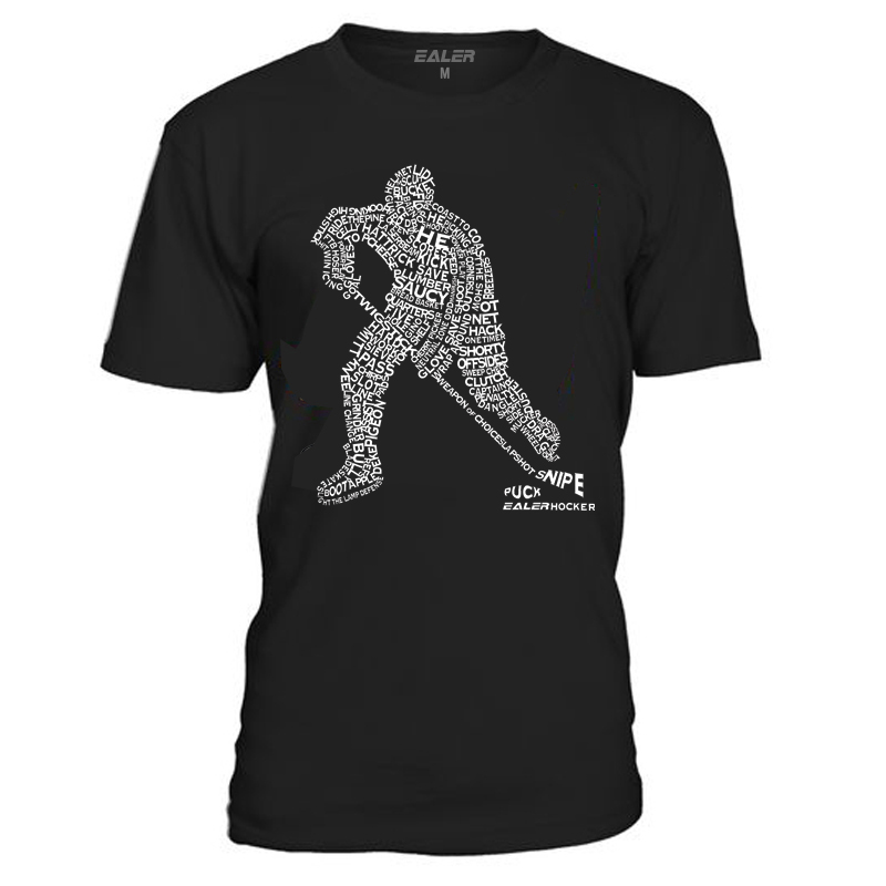 COLDINDOOR Cotton O Neck T Shirts for ice Hockey High quality free shipping Vintage Short Sleeve Mens Shirt TS1829 in Hockey Jerseys from Sports Entertainment