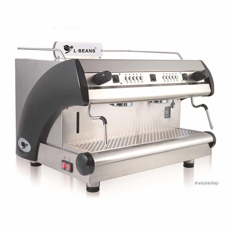12L Коммерческая Итальянская Кофеварка 3000 Вт 220 В кофемашина с двойной головкой с электронным управлением кофеварка