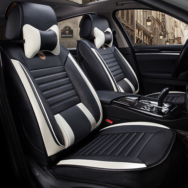 Universal Leather Car Seat Cover Covers For Volkswagen Caddy Panel Life Maxi Atlas Volante