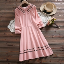 31af622eac8 2019 Mori Girl Spring Women Cute Dress Peter Pan Collar Blue Pink Female  Vestidos Long Sleeve