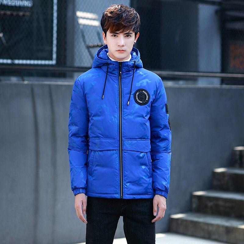 2018 Winter lightweight down jackets mens flower Camouflage parka men thicken hooded duck down jacket men coats Outerwear