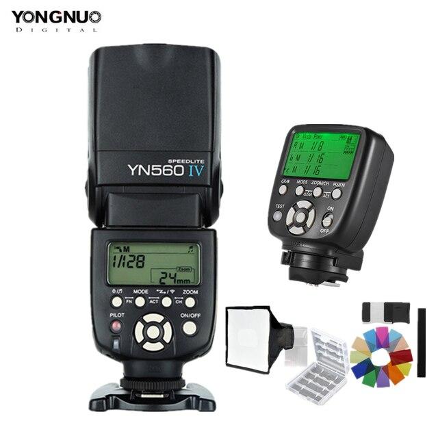 YONGNUO YN560IV YN560 IV 2,4G esclavo maestro inalámbrico flash Speedlite con YN560TX II disparador para cámaras Canon Nikon Pentax
