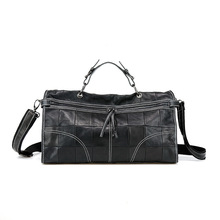 2018 Women Female Classic Women City Metallic Edge Shoulder Bag Vintage Shoulder Bag Female Genuine Leather