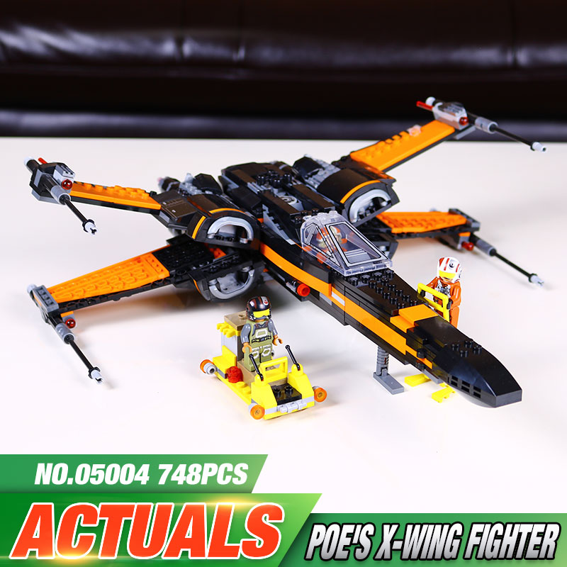 New font b LEPIN b font 05004 Star Wars First Order Poe s X wing Fighter