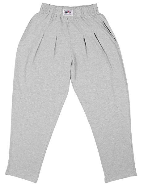 Мужские мешковатые брюки для бодибилдинга, свободные удобные брюки для тренировок из лайкры и хлопка с высокой эластичностью, для фитнеса, M, L, XL - Цвет: Gray