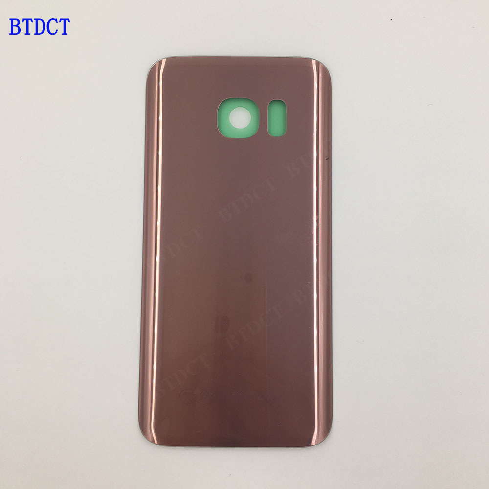 10pcs/lot BTDCT For samsung s7 G9300 shell G9308 glass back cover the cell phone battery back cover with Adhesive Sticker