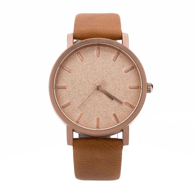FUNIQUE Unique Design Simple Watches Men Women Quartz Leather Fashion Casual Watch Women Ladies Casual Hand Clock Minimalism