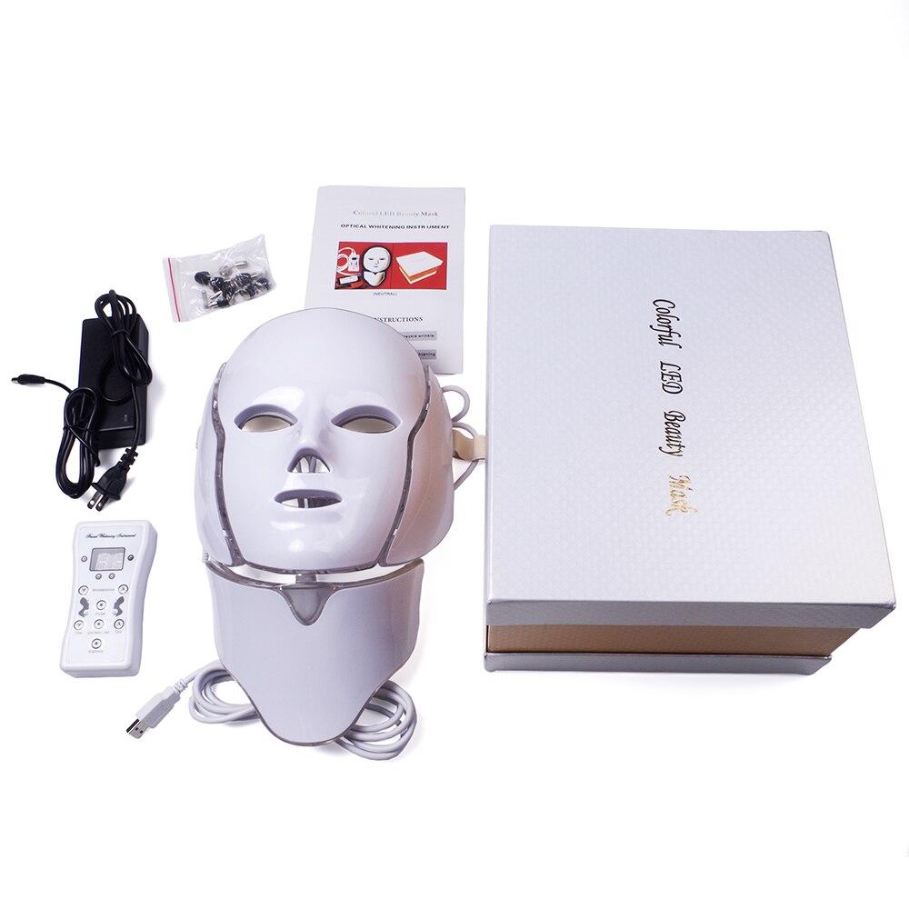 máscara facial terapia fóton pele facial pescoço
