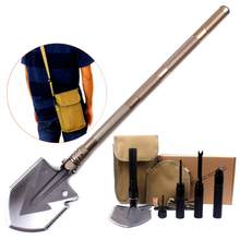 Multifunction Folding Camping Shovel / Knife/ Screwdriver / Magnesium Rod Removable Shovel Oxidation Handle Outdoor Tool