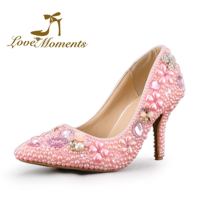 YUCH Chaussures Femme Simple Pointe Fine Bouche Peu Profonde Talons Hauts Chaussures de Travail,Rouge,36