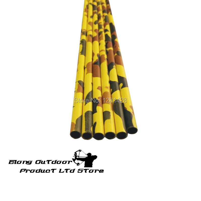 """completed arrow 340 spine,Hunting arrow 30/"""" Yellow CAMO pure carbon arrow 12"""