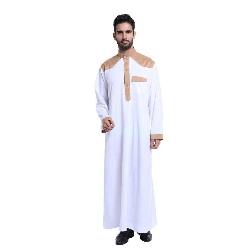 398f9f2ca Musulmana Ropa para hombres para hombre Kaftan Jubba Thobe blanco Abaya  árabe Ropa hombre Ropa islámica de la Ropa al árabe hombre D1