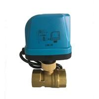 two way Electric Ball valve DN15 DN20 DN25 DN32 AC220V Brass Motorized Ball Valve water