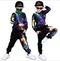 2018 Kids Clothing Set Autumn Toddler Boys Hip Hop Clothes 4 6 8 9 10 12 Years Long Sleeve Cotton Children Clothing Sets For Boy