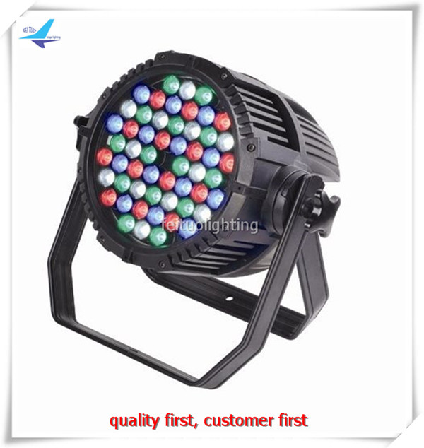 free shipping 6pcs/lot IP65 DJ Party Light 54x3 LED Par Stage Uplight Waterproof RGBW Beam Wash Lights DMX Projector Disco KTV free shipping 8pcs lot 18x10w par can 4in1 rgbw stage wash par light new dmx colorful effect lights for disco party show