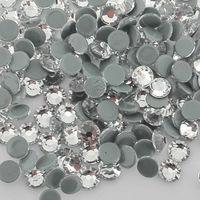 SS34 SS40 YANRUO Hot Fix SS50 Crystal Rhinestones Calientes del Arreglo de Cristal Adhesivo Cristal Rhinestones la Parte Posterior Plana de Hierro en la Ropa de Prendas de vestir