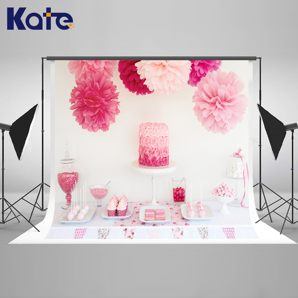 Kate Photo Background Pink Photography Backdrops Newborn Photography Background Birhtday Cake Backdrop for Children Shoot kate photo background newborn birthday photography background lollipop and cake table backdrop for children photo shoot