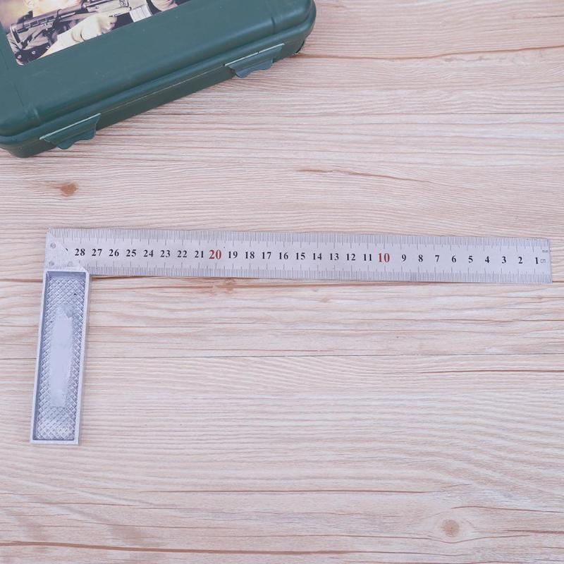 90 Degree Angle Ruler 30cm/1mm Measuring Tool Instruments Metal Steel Engineers Try Square Set Wood Measuring Tool Right Angle