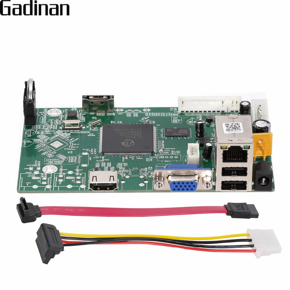 GADINAN 1080P 4CH Security Network Recorder Board 4CH 1080P /8CH 960P ONVIF Email Alert Motion Detection Mini NVR Board