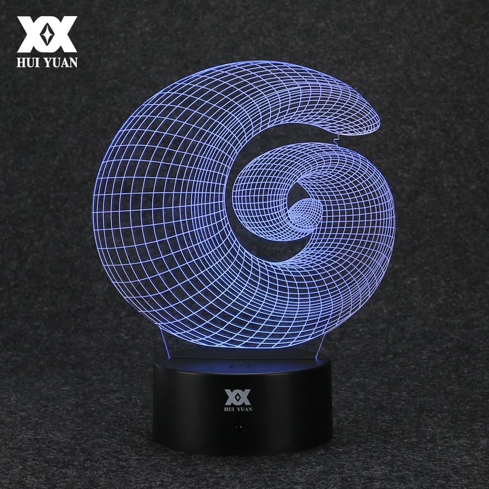 Radošs abstrakts 3D lukturis Interesanta akrila USB mājas - Nakts gaismas