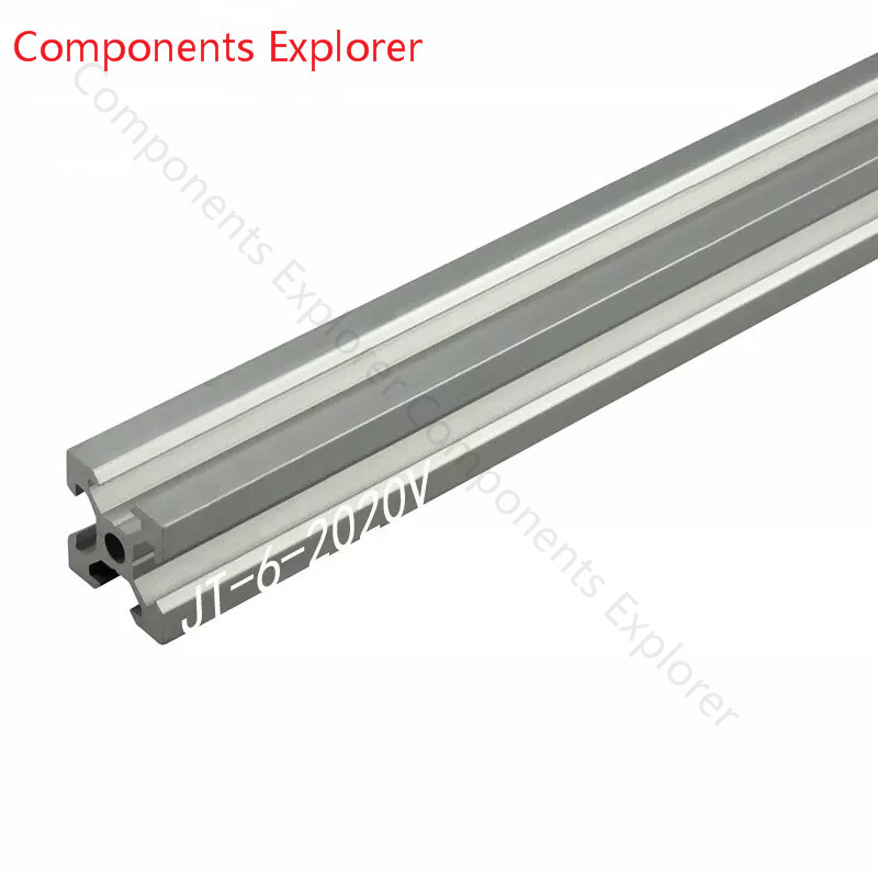 Arbitrary Cutting 1000mm 2020 V-slot Aluminum Extrusion Profile,Silvery Color.