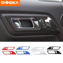 SHINEKA 3 Colors  Door Handle Frame Trims for Ford Mustang 2015+