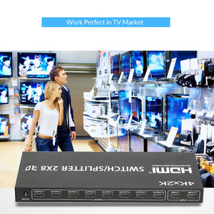 Image 5 - Unnlink HDMI Splitter/Switcher 2X8 UHD HDMI1.4 4K@30Hz 2 Input 8 Output for LED 4K TV mi box monitor computer ps4 projector