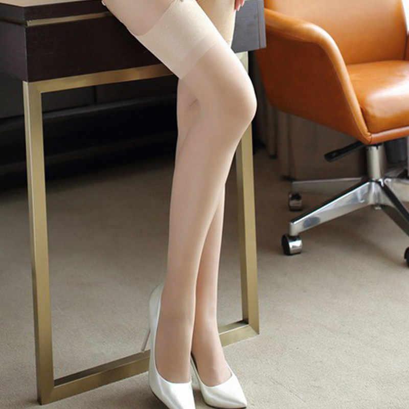 4 pçs/lote nova chegada feminina ampla costela superior manguito sexy meias de seda transparente meia senhoras coxa meias altas medias 9013